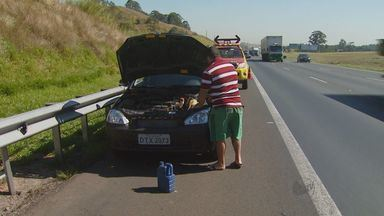 Em uma hora, 13 carros são guinchados em rodovias sob consessão - Confira cuidados para evitar transtornos durante viagem.