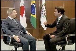 Antônio Anastasia fala sobre medidas de combate a seca e investimentos na área da Saúde - Governador recebeu a equipe da Inter TV no Palácio Tiradentes, na Cidade Administrativa.