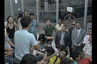 Manifestantes pretendem acompanhar votação do passe livre na Câmara Municipal de Belém - Manifestantes pretendem acompanhar votação do passe livre na Câmara Municipal de Belém.