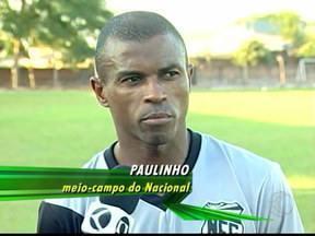 Nacional de Uberaba apresenta Paulinho e aposta na experiência de Michel Cury e Balduino - Volante Paulinho acumula passagens pelo Flamengo e Ipatinga. Equipe se prepara para disputa da Segunda Divisão