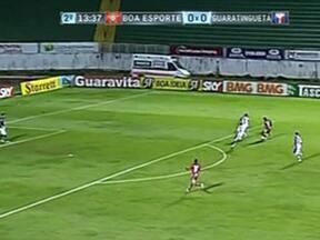 Boa Esporte vence Guaratinguetá por 2 a 0 - Partida foi realizada em Varginha, no Sul de Minas Gerais.