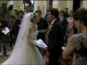 Confira os bastidores do casamento de Nicole e Thales em Amor à Vida - Marcela Monteiro mostra tudo que rolou na gravação das cenas