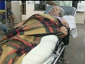 Paciente não consegue ser atendida em hospitais públicos de Brasília - Dona Irene saiu da Bahia em busca de atendimento em hospitais públicos e não conseguiu ser operada. Ela tentou hospital público de Planaltina e Sobradinho e não teve sucesso.