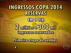 Venda de ingresso para Copa do Mundo impressiona a FIFA - Durante uma reunião do Comitê Organizador, números que retratam a grande procura por ingressos foi apresentado pela FIFA.. Em apenas um dia, dois milhões e 300 mil ingressos foram reservados.