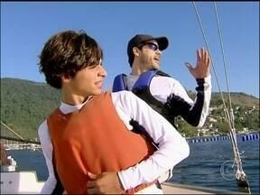 Bruno Garcia aprende a velejar no Estrelas! - Apaixonado por esporte, ator pratica a novidade com os irmãos Grael