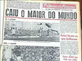 Há 45 anos o Santos de Pelé caia na Vila Capanema - Foi a última vez que Atlético e Santos jogaram no Estádio que hoje é do Paraná Clube.