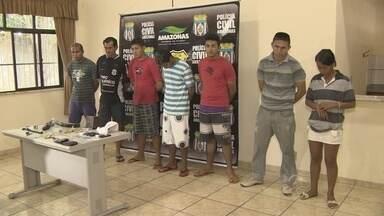 Sete são presos suspeitos de assaltar condomínio no Vieiralves, em Manaus - Segundo a polícia, ex-porteiro do prédio integrava grupo e ajudou suspeitos