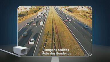 Confira as condições do trânsito nas rodovias da região nesta quinta - Confira as condições do trânsito na Rodovia Zeferino Vaz, no trecho entre Campinas (SP) e Paulínia (SP) na manhã desta quinta-feira (5).