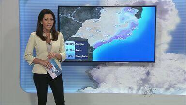 Confira a previsão do tempo para este sábado na região de Ribeirão Preto - Em Pontal, temperatura mínima deve ser de 16 graus.
