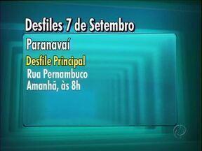 Confira o horário dos desfiles de 7 de setembro - Em Umuarama não vai haver desfile, mas tem programação cultural nas escolas da cidade.