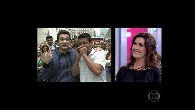 Veras desafia paulistanos a fazer rap ao vivo - Emicida elogia a performance dos rapazes