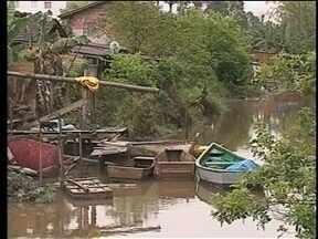 Em Itajaí há preocupação também com elevação da maré - Em Itajaí há preocupação também com elevação da maré
