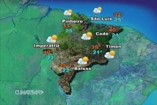 Veja como fica a previsão do tempo para este sábado (21) - No leste e no sul do estado as temperaturas atingem os 40 graus.
