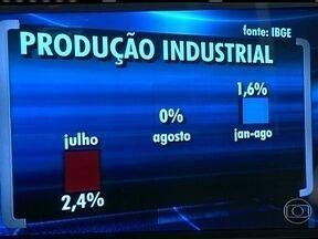 Produção industrial brasileira fica estagnada em agosto - Segundo o IBGE, depois de várias oscilações durante o ano, a variação de agosto em relação a julho foi zero. No acumulado do ano, a indústria produziu 1,6% a mais do que no mesmo período de 2012.