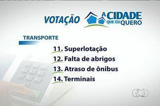 TV Anhanguera inicia votação do projeto 'A cidade que eu quero' - Proposta faz parte das comemorações dos 50 anos da emissora. Assuntos que mais causaram reclamação da população serão colocados em discussão.