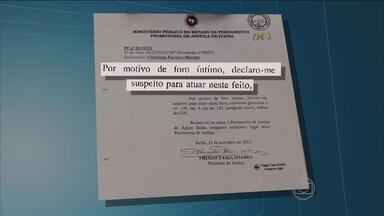 Promotor assassinado pediu pra sair da comarca de Itaíba um mês antes do crime - Documento foi apresentado pelo corregedor-geral de Justiça do estado. Vários depoimentos foram prestados na delegacia que investiga o caso.