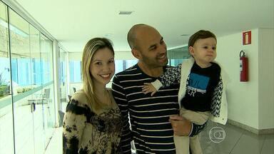 Fã de pescaria, Bruno Rodrigo apresenta sua família - Jogador sentiu dores e pode desflacar o Cruzeiro contra o Criciúma