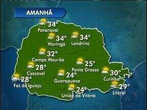 Tempo vai ficar abafado nesta quarta-feira - Máxima na capital vai ser de 30º.