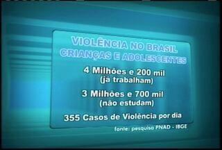 Pesquisa do IBGE revela que 355 casos de violência contra crianças são registrados por dia - Tema foi discutido em audiência pública realizada em Montes Claros.