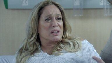 Pilar discute com Aline - A ex-secretária é repreendida por Lutero e Bernarda. Félix ameaça César, mas eles são interrompidos pela confusão no quarto de Pilar. O médico se enfurece com a ex-mulher e ela fica desesperada