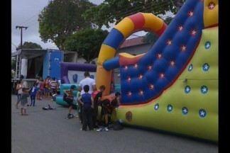 Várias atividades acontecem no evento Esporte e Cidadania, em Campina Grande - Entretenimento para todas as idades.