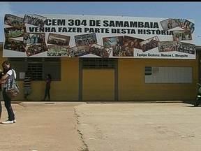 Crescimento de Samambaia faz aumentar a preocupação com a segurança - A cidade de Samambaia cresce em um ritmo acelerado. O local ganhou 19 mil novos moradores em apenas dois anos. Por isso, a segurança é uma preocupação constante dos moradores, em locais como na porta das escolas.