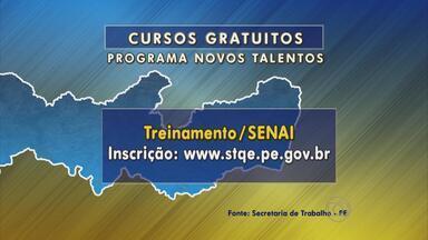 Programa Novos Talentos inscreve para mais de 100 vagas em Pernambuco - São 40 para treinar operador de computador em Caetés, 30 para curso de pedreiro de alvenaria em Pesqueira, entre outros.