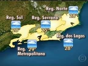 Confira a previsão do tempo para o estado do Rio de Janeiro nesta quinta-feira (31) - O tempo deve ficar fechado durante todo o dia. A grande quantidade de umidade do mar que está vindo para o estado deixam as nuvens ainda mais carregadas. Pode chover a qualquer hora.