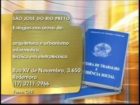 Confira as vagas de emprego desta quinta-feira na região de Rio Preto - Para quem está em busca de emprego, o Bom Dia Cidade desta quinta-feira (31) divulgou vagas em algumas cidades da região noroeste paulista. Confira as oportunidades.