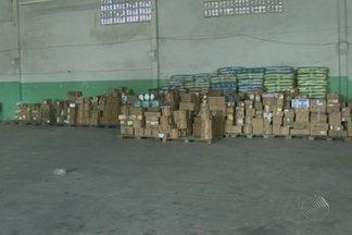 Uma tonelada de medicamentos é apreendida na manhã desta quinta em Feira de Santana - Segundo a Vigilância Sanitária, o local funcionava sem alvará e o armazenamento era feito de forma irregular.