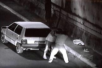 Polícia registrou quatro assassinatos e 22 acidentes em São Luís no fim de semana - Câmeras de videomonitoramento flagraram uma briga após um acidente, no bairro do Anil.