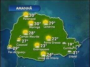 Em Cascavel pode chover um pouco amanhã - A previsão é de calor e de pancadas isoladas no decorrer do dia.