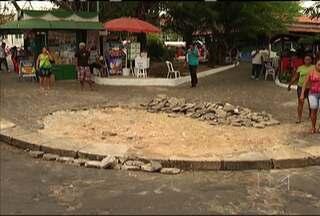 Locais do Centro de São Luís têm sérios problemas estruturais - Falta de faixas de segurança, lixo, estacionamento em local proibido tudo isso na Praça da Alegria, em pleno Centro da capital. Esta não é a primeira vez que o problema é denunciado.