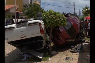 Casal sofre acidente de trânsito e o motorista do outro carro tinha bebido - O acidente foi em João Pessoa. Um construtor morreu e a mulher dele ficou ferida.