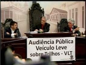 Audiência pública sobre o VLT termina sem definição em Macaé, RJ - Reunião contou com representantes da prefeitura.