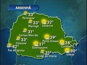 Feriado sem chuva em Londrina - A previsão é de muito calor durante o fim de semana prolongado. Veja no mapa da previsão.