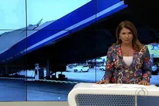 JPB2JP: Desaba teto de posto de combustíveis - No Ernesto Geisel, na Capital.