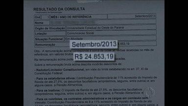 TC denuncia supersalários na Unioeste - Vantagens pagas a servidores fazem salários iguais ao do governador.