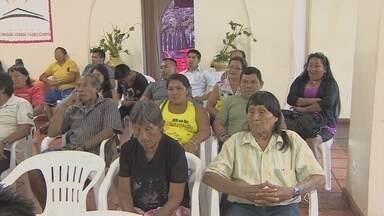 Lideranças indígenas se reuniram em Macapá para debater principais dificuldades - LIDERANÇAS INDÍGENAS DE TODO O ESTADO SE REUNIRAM EM MACAPÁ PARA DEBATER AS PRINCIPAIS DIFICULDADES DAS ETNIAS. ALGUMAS ALDEIAS, COMO AS QUE FICAM NO PARQUE DO TUMUCUMAQUE, FICAM PRATICAMENTE ISOLADAS.