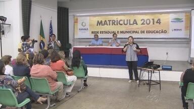 Divulgado o calendário de matrículas na rede pública de ensino, no AM - Em Manaus, estado e município atuam em conjunto durante as matrículas.