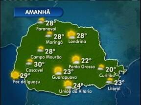 Pode chover em Curitiba nesta sábado - A máxima chega a 20 graus.