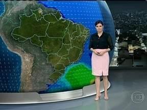 Previsão é de chuva em grande parte do Brasil no sábado (23) - Choverá principalmente na região Sudeste. Meteorologistas chamam a atenção para a grande quantidade de chuva esperada no Rio de Janeiro e em Minas.