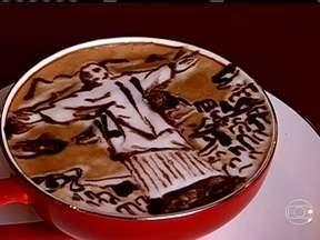 Decorações especiais são usadas para servir café no Japão - O correspondente em Tóquio, Márcio Gomes, descobriu na capital japonesa que o produto brasileiro é servido com um toque da minuciosa arte oriental.
