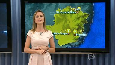Tempo fica aberto e ensolarado na maioria das regiões do estado - Chance de chuva é maior no Norte de Minas Gerais. Temperaturas continuam alta.