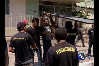 Operação da prefeitura retira camelôs de áreas de Belém - Operação foi realizada na avenida Presidente Vargas.