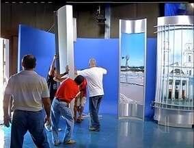 Estúdio do RJ vai passar por reforma - Jornal será apresentado em um espaço temporário.