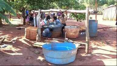 Indígenas reclamam da falta de água para atender aldeia - Eles reclamam que dois poços artesianos da comunidade não são suficientes para garantir o atendimento dos 6 mil moradores