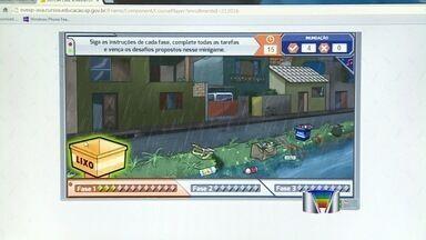Alunos de São José dos Campos (SP) aprendem na tela do computador como enfrentar enchentes - Para prevenir enchentes e outros riscos causados pela chuva alunos da rede estadual participam de uma aula diferente e aprendem com brincadeiras que eles conhecem muito bem: os jogos de computador.