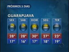 Temporal pode se repetir nesta sexta-feira na região de Guarapuava - O sol pode até aparecer e as temperaturas permanecem mais altas. Mas existe possibilidade de pancadas de chuva e trovoadas na cidade.