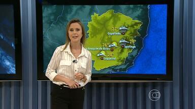 Fim de semana vai ser de sol entre nuvens em Minas Gerais - No sábado e domingo pode haver pancadas de chuva isoladas. Frente fria se deslocou para o Norte do estado.